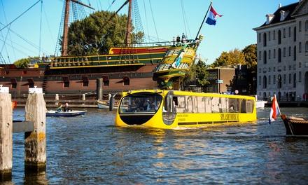 Splashtours Amsterdam: citytour van 1 uur door het centrum van de stad in een bus die rijdt én vaart