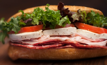 Two Groupons, Each Good for $10 Worth of Sub Sandwiches for Dine-In or Takeout at Brown Bag Deli (45% Off)