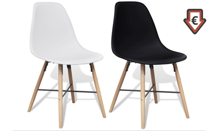 lot de 2 ou 4 chaises scandinaves voster groupon shopping. Black Bedroom Furniture Sets. Home Design Ideas