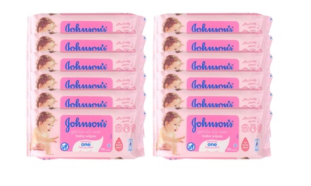 $29 for a Pack of 672 Johnson's Gentle AllOver Baby Wipes Don't Pay $144