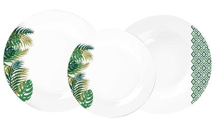 Servizio da 18 piatti in porcellana Borneo Casa Collection