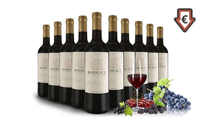 10 Flaschen Chaubriand Bordeaux AOP 2015 inkl. Versand