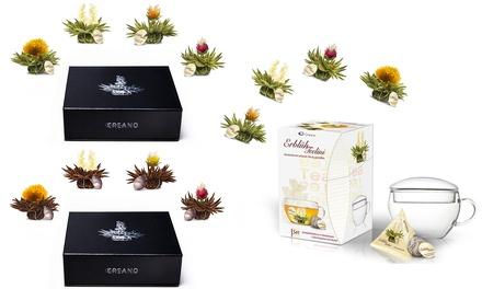 Set regalo in legno con tè floreale naturale e tazze Creano disponibili in vari set