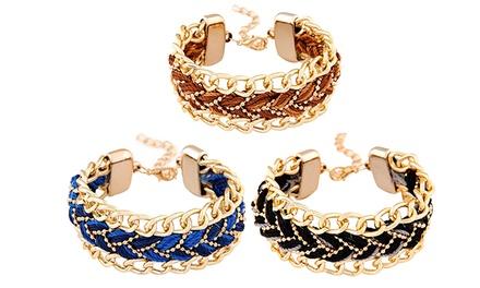 Pulseira com corrente dourada disponível em três cores por 12,99€ ou conjuntos desde 22,99€