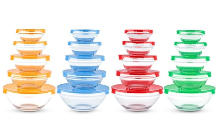One, Two or Three Sets of Glass Food Storage Containers