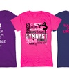 Kidteez Girls' Gymnastic Themed T-Shirt
