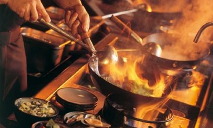 Entrée et wok ou spécialités à la carte avec dessert pour 2 ou 4 personnes dès 29,90 € au restaurant Tiger Wok