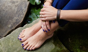Nail Tek: Spa Pedicure with Shellac or Hot-Oil Manicure at Nail Tek (Up to 37% Off)