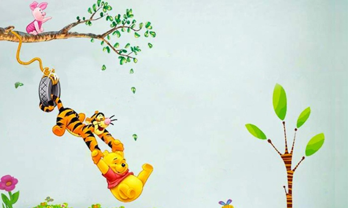 Adesivi da parete per bambini groupon goods for Disegni da applicare alle pareti