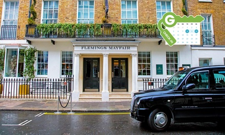 London: Classic or Deluxe Double Room for Two with Bottle of Wine at 4* Flemings Mayfair Hotel