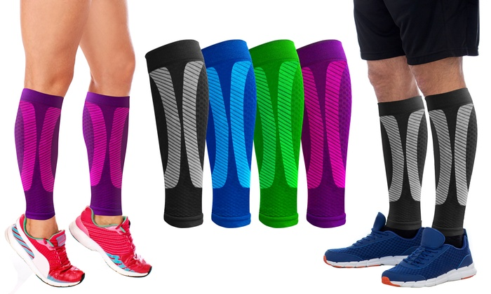 1296125c35 Up To 80% Off on Unisex Calf Compression Sleeves | Groupon Goods