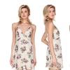 Women's Floral Mini Chiffon Dress