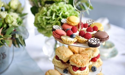 Afternoon Tea with Glass of Prosecco for Two or Four at 4* Hilton Garden Inn (Up to 50% Off)