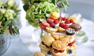 Hilton Garden Inn: Afternoon Tea with Glass of Prosecco for Two or Four at 4* Hilton Garden Inn (Up to 50% Off)