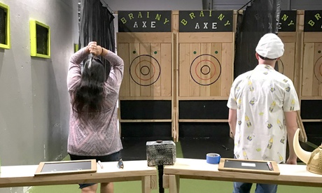 One-Hour Axe Throwing Session for 2, 4, or Up to 10 People at Brainy Actz Axe Throwing (Up to 37% Off)