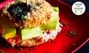 Zaki Sushi - Brasília: Sushiburguer tradicional ou vegano para 1, 2 ou 4 pessoas no Zaki Sushi – Asa Norte