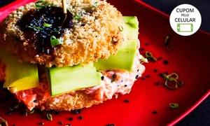 Zaki Sushi: Sushiburguer tradicional ou vegano para 1, 2 ou 4 pessoas no Zaki Sushi – Asa Norte