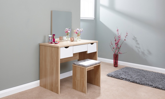 Stockholm Dressing Table Range in Choice of Design from £65.99 (9% OFF)