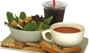 Farmshop Center: One Soup, Salad and Drink at FARMSHOP CENTER (45% Off)