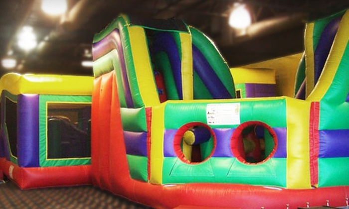 FunFlatables - Multiple Locations: 5 or 10 Open-Play Sessions or Birthday-Party Package at FunFlatables (Up to 61% Off). Four Locations Available.