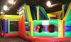 FunFlatables DUP - Multiple Locations: 5 or 10 Open-Play Sessions or Birthday-Party Package at FunFlatables (Up to 61% Off). Four Locations Available.