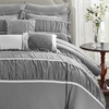 Penelope Pleated and Ruffled Bed-in-a-Bag Comforter Set (10-Piece)