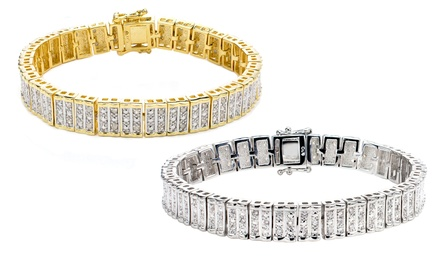 1.00 CTTW Genuine Diamond Bracelets
