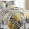 100% Cotton Printed-Patchwork Reversible Quilt Set