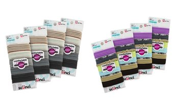 Scunci No-Damage Elastic Ponytail Ties (120-Pack; 128-Pack; 135-Pack)