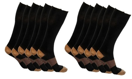 5- or 10-Pack of Copper-Infused Compression Socks from AED 79 (Up to 61% Off)