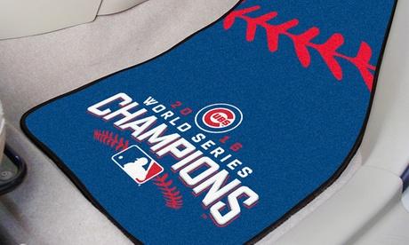 "MLB Printed 18""x27"" Chicago Cubs Carpeted Car Mat Set (2-Piece) 4acb2655-57c7-4f9f-b3a9-08b0bbe64ed2"