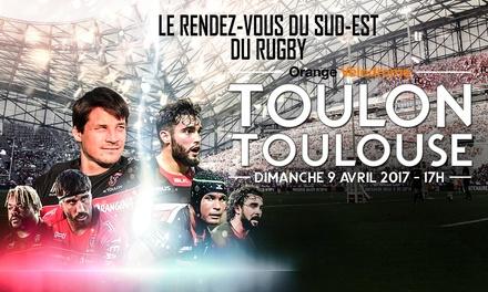 1 place en cat. Top pour le RC Toulon vs Stade Toulousain le samedi 9 avril 2017 à 17h à 54 € au Vélodrome Marseille