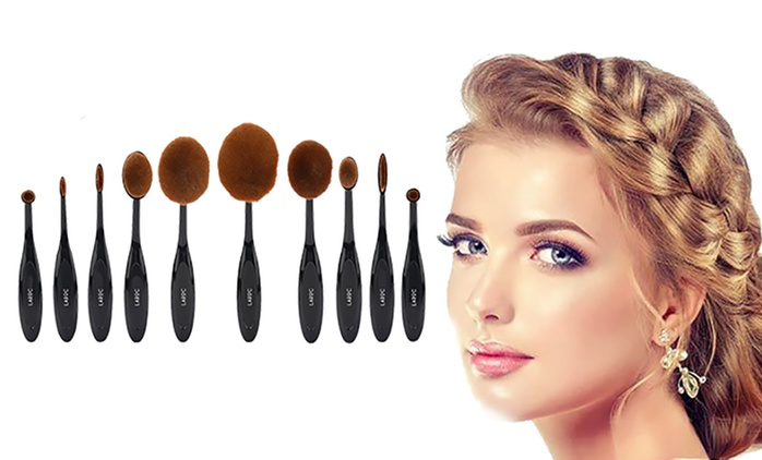 LaRoc Five- or Ten-Piece Oval Brush Set from £4.99 (Up to 50% Off)