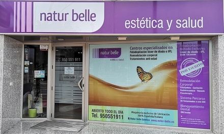 1, 3, 5 o 7 sesiones de depilación láser en zona a elegir desde 12 € en Natur Belle