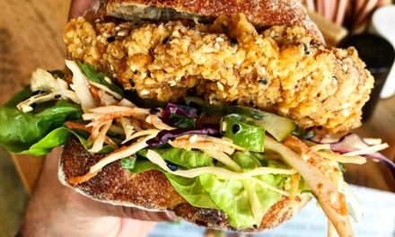 Choice of Vegan Burger with Chips and Beer for Two or Four at The Bok Shop (Up to 48% Off)