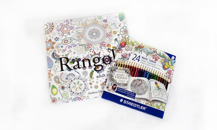 Adult Colouring Book with Pencils