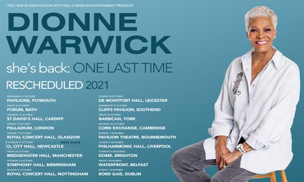 groupon.co.uk - Dionne Warwick – One Last Time Tour, 13th October – 4th November 2021, 11 Locations