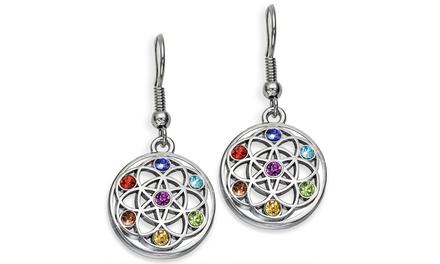 Boucles d'oreilles Chakra de la marque The Gemseller ornées de cristaux, dès 10,90€