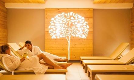 Percorso termale di coppia di 3 ore con scrub e massaggio corpo da 25 minuti alle Terme di Pejo (sconto fino a 60%)