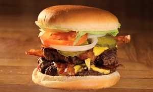 Four Winds: Burgers, Fries, Pizza, and Other American Eats for Two at Four Winds (Up to 45% Off)