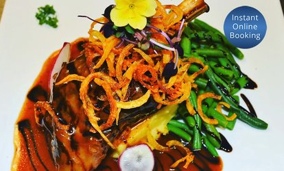 3-Course European Dinner: 2 ($49), 4 ($95), 6 ($144) or 8 Ppl ($189) at UV9 Fusion Restaurant & Bar (Up to $384 Value)
