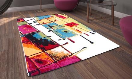 Artistieke vloerkleden gemaakt van synthetisch wol