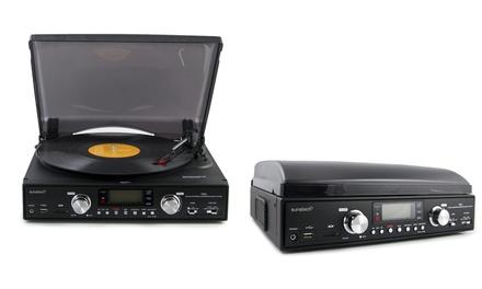 Tocadiscos Sunstech PXR2 con radio, CD y función de grabación