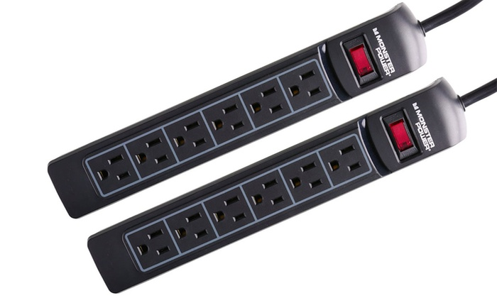 Monster Essentials 600 6-Outlet Surge Protector (1- or 2-Pack)