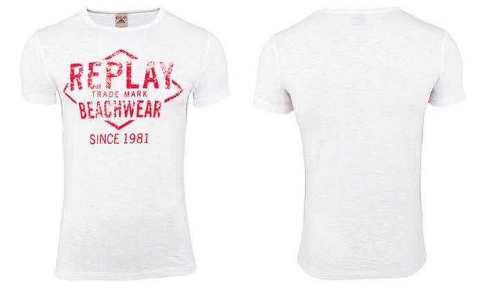 3er-Pack Replay T-Shirts mit Rundhalsausschnitt (83% sparen*)