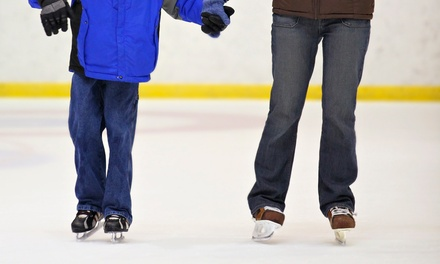 All-Day Ice Skating with Skate Rental for Two or Four at Ice Skate USA (50% Off)