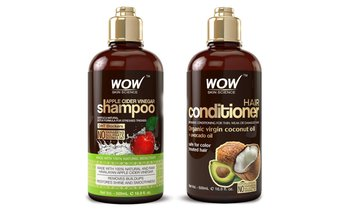 WOW Apple Cider Vinegar Shampoo & Hair Conditioner (16.9 Fl. Oz. Each)