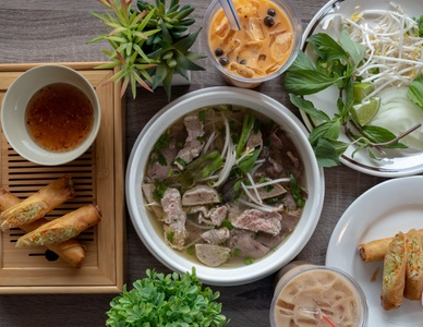 Vietnamese Food, Bubble Tea, and More at Vincent's Cafe for Two or Four (Up to 40% Off). Two Options Available.