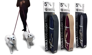 AKC 5Ft. Double Dog Leash