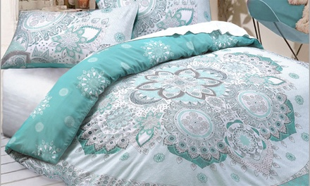 Celestial Mandala Reversible Duvet Cover Set in Choice of Colour